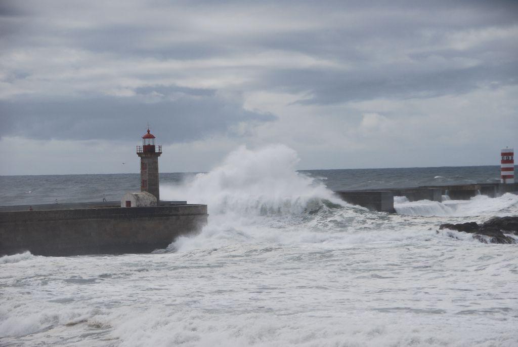 Zu viel Wind – müssen in Porto bleiben
