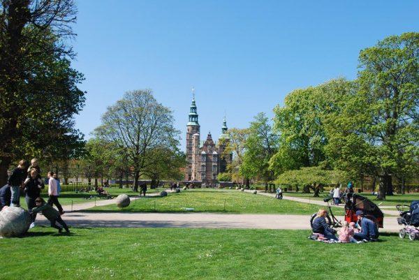 Frühling am Slot Rosenborg