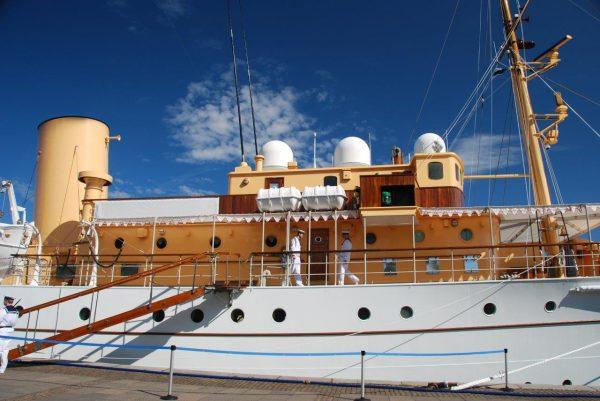 Die royale Yacht hat festgemacht