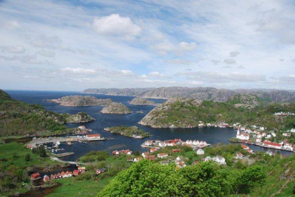 Kirkehamn von oben
