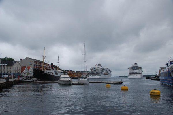 Täglich laufen 1 bis 2 Kreuzfahrer Stavanger an