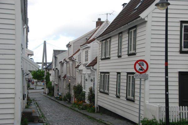 Gemütliche Gassen in Stavanger