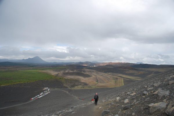 Aufstieg zum Krater
