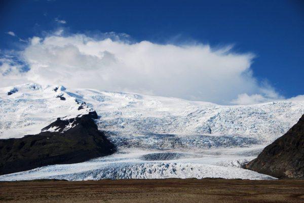 Gletscherzunge am morgen