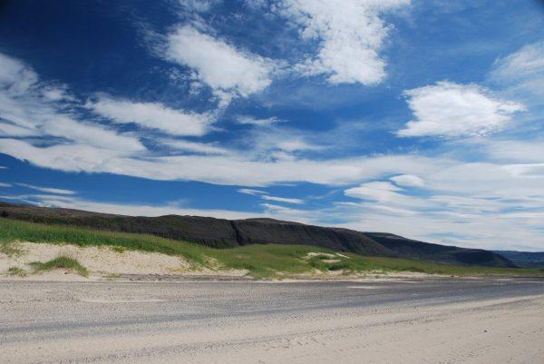 Landebahn im Dünensand