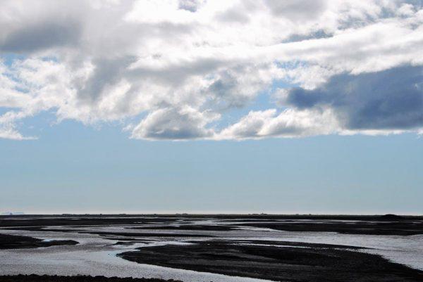 Riesige Deltas der Gletscherläufe