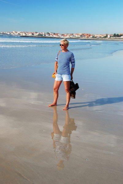 Strandläuferin in Corrubedo