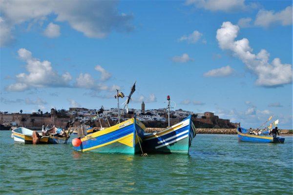 Fischerboote auf dem Bou Regreg