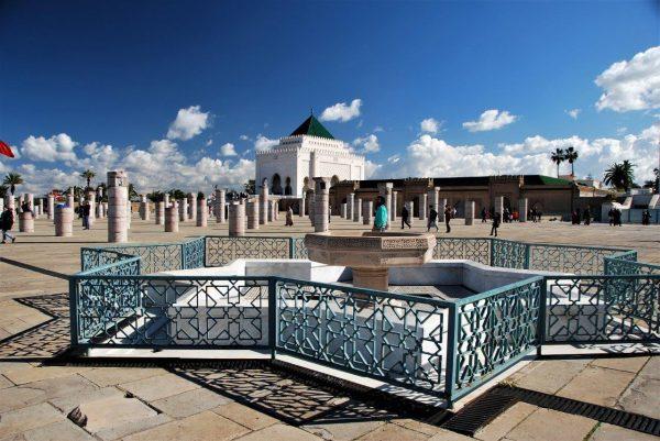Blick auf das königliche Mausoleum