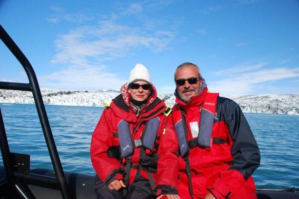 auf dem Gletschersee ...
